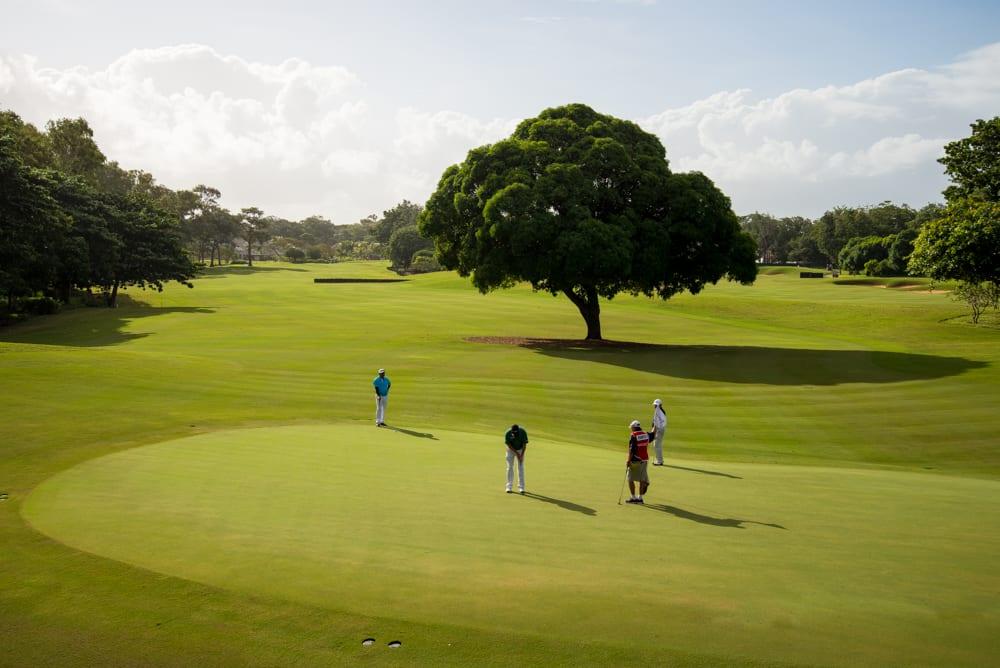 Hole 2 at Anahita Golf Club Mauritius