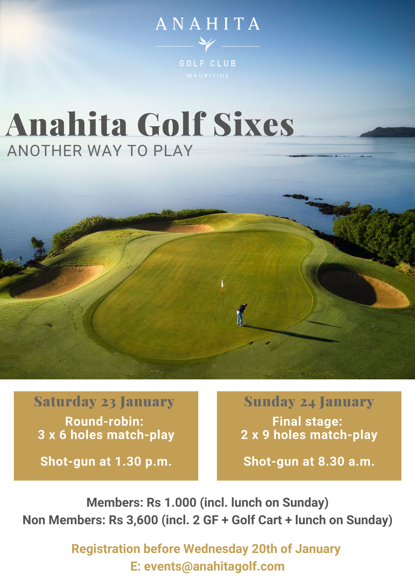 Anahita Golf Sixes